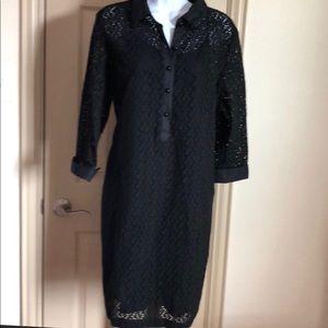 👗Talbots Size 14 Black Tunic Dress